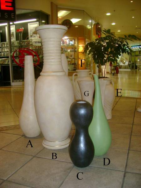 Mixed vases